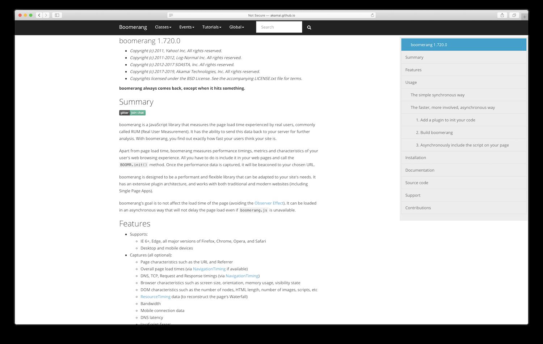 Boomerang.js documentation