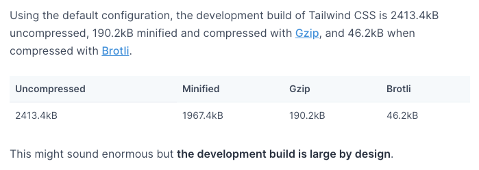 TailwindCSS: controlling file size